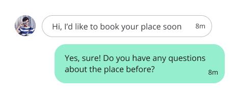 chat messages design