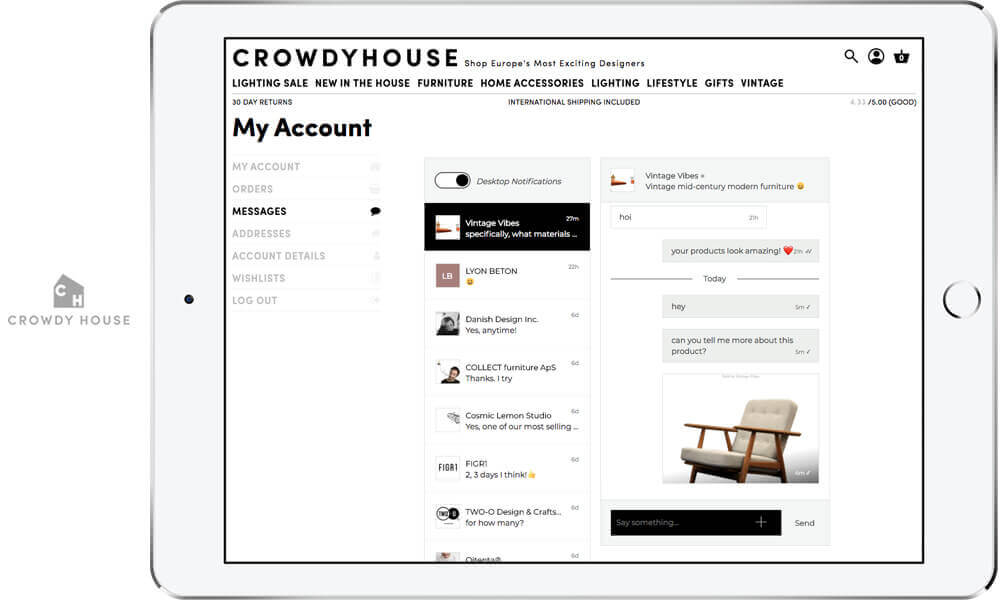 Add chat between the buyers and sellers to your online